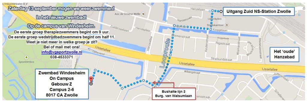 Route Zwembad Windesheim