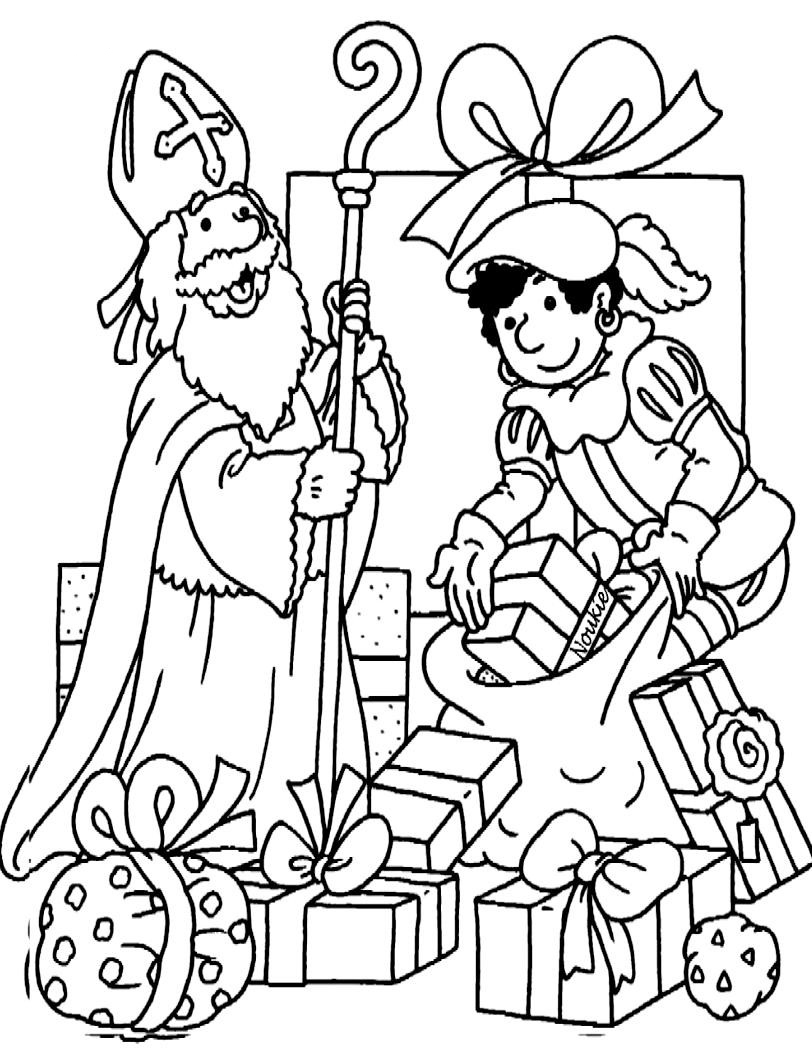 Sinterklaasjournaal Kleurplaat Printen Herfstvakantie Met Sint